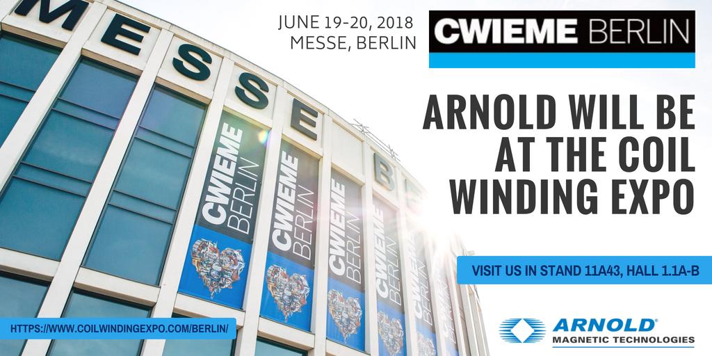 Arnold to Attend CWIEME Berlin