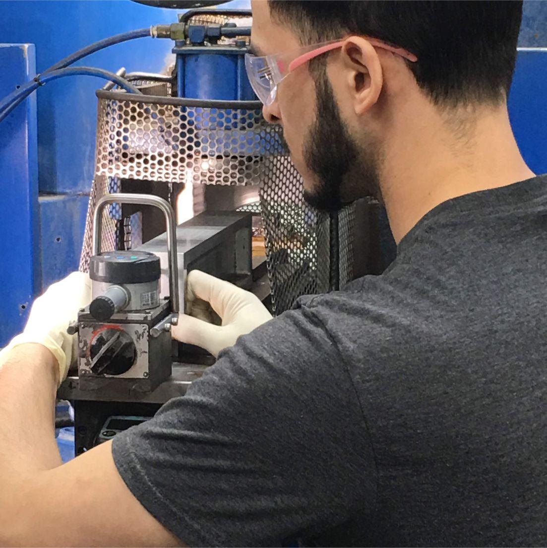 Magnetproduktion und Bearbeitung