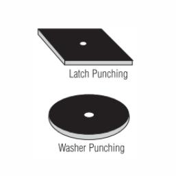 stamped: latch punching, washer punching