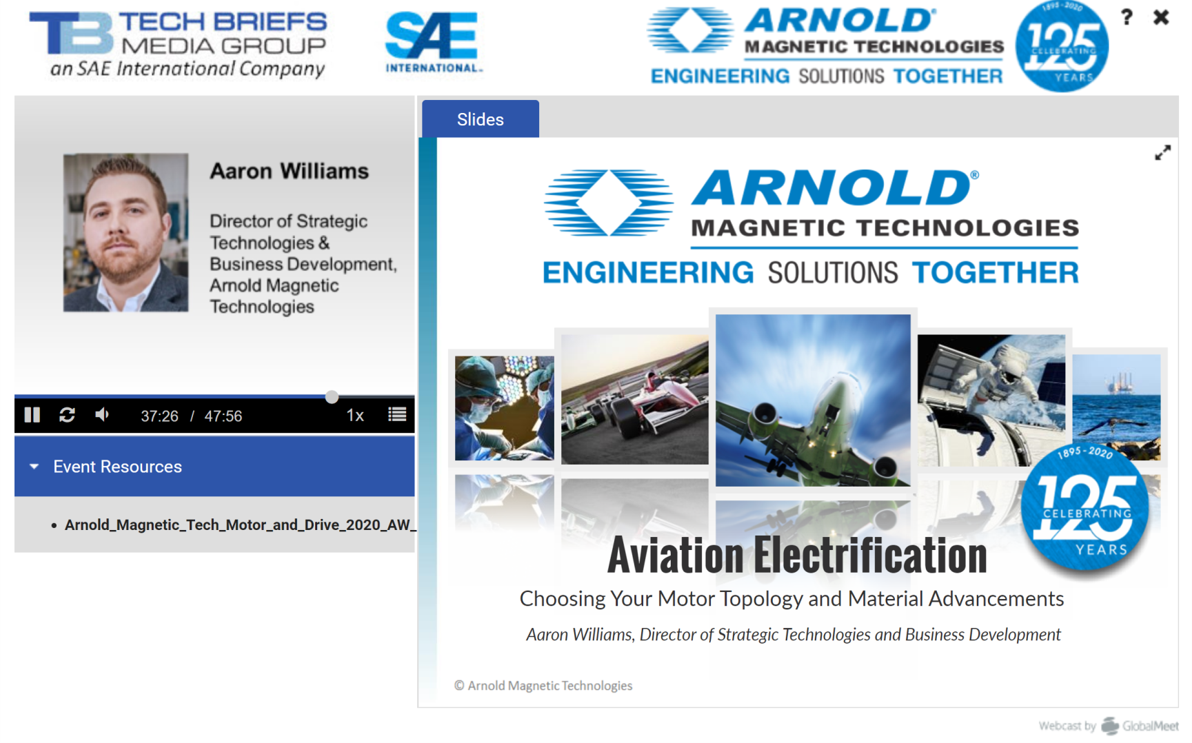 Arnold's First Webinar