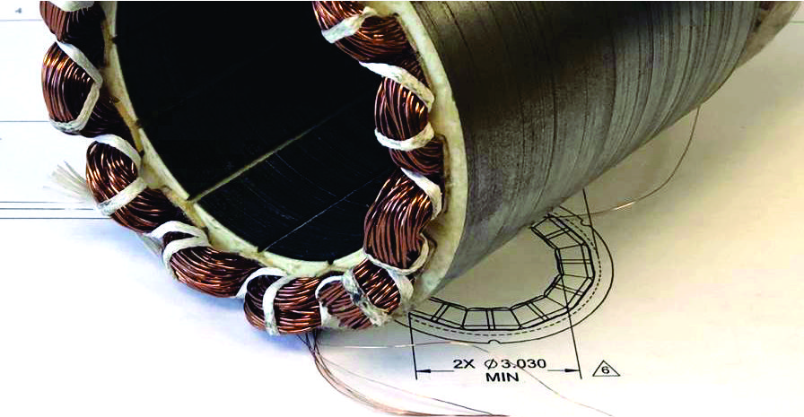 R&D Electrification Projects stator from technology center